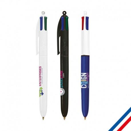 Stylo BIC 4 couleurs personnalisé sur Cadeauweb
