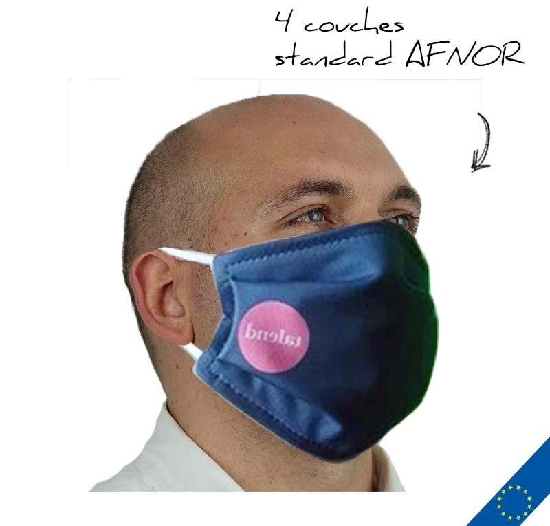 masque protection personnalisable avec logo