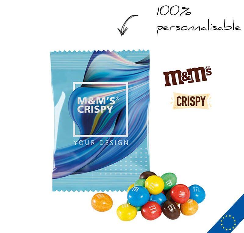 sachet M&M's personnalisable avec logo sur Cadeauweb